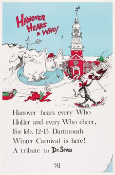 1981 Carnival Posters, Dartmouth College, Vintage Travel, Vintage Posters, Skiing, Digital, Big, Winter, Cover