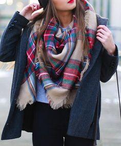 Scarf Fall Winter Fashion Plaid Warm Comfy Trendy Scarves (FREE SHIPPING & FREE RETURNS)
