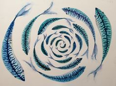 ARTFINDER: Down Deep by Jill Griffin - Mackerel are Britains speediest native fish and I think, the most glorious coloured. I have been lucky this year to have no shortage of subjects to paint.  ...