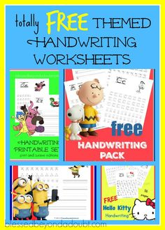 Here's a FUN list ofFree Printable Handwriting Worksheets that will help your child to master their handwriting skills in no time.
