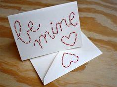 embroidered Valentine & diy valentine's card round-up