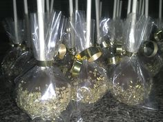 Cake pops for New Year's Eve party.