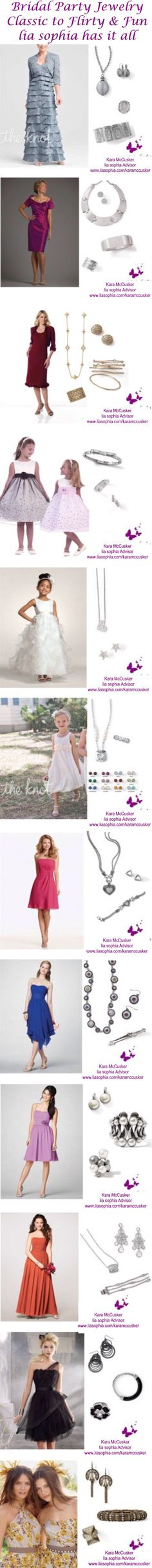 Need the perfect jewelry for your Maid of Honor, Bridesmaid, Flower girl or Mother of the Bride? Lia sophia has you covered! From simple and classic to fun and flirty...lia sophia has it all!!!