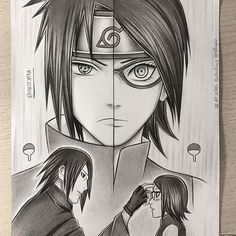 Father & Daughter ♡(: - This one took me a while! All done in pencil as usual (used only 2B faber-castell pencil and 0,5HB for outlines) Tell me what you think! #sasuke #sarada #uchiha ref; naruto manga, masashi kishimoto