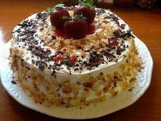 Τούρτα λευκή , δροσερή Greek Sweets, Greek Desserts, Greek Recipes, How To Make Cake, Food To Make, My Food Pyramid, I Foods, Dessert Recipes, Food And Drink