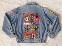 Patched Denim / Hand Reworked Vintage Jean by KodChaPhornJacket465