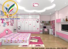Home Furniture Couches House Ceiling Design, Bedroom False Ceiling Design, Bedroom Bed Design, Baby Room Design, Bedroom Furniture Design, Bedroom Decor For Teen Girls, Cute Bedroom Ideas, Small Room Bedroom, Hello Kitty Zimmer