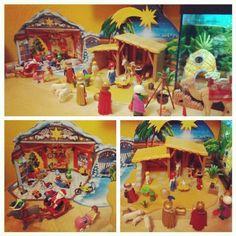 Ya tenemos el Belén montado #navidad #chrismas #papa noel #santa claus #reyes magos #portal de Belén #estrella #duendes #rudolf #playmobil