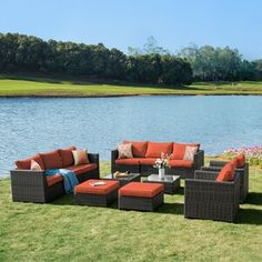 Sol 72 Outdoor™ Merlyn 11 Piece Sectional Seating Group with Cushions | Wayfair Patio Furniture Sets, Furniture Covers, Sofa Covers, Wicker Furniture, Adirondack Furniture, Rattan Sofa, House Furniture, Furniture Sale, Garden Furniture