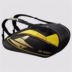 YONEX - BAG02LDEX Pro Racquet Bag (6pcs) http://www.yonexusa.com/sports/badminton/products/badminton/lin-dan-exclusive/bag02ldex-pro-racquet-bag-6pcs/