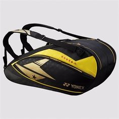 YONEX - BAG02LDEX Pro Racquet Bag (6pcs) http://www.yonexusa.com/sports/badminton/products/badminton/lin-dan-exclusive/bag02ldex-pro-racquet-bag-6pcs/