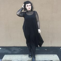"""542 Likes, 18 Comments - Haleigh Schiafo (@haleighmoon) on Instagram: """"When your cozy goth and kink witch aesthetics meet in one perfect outfit❣️"""""""