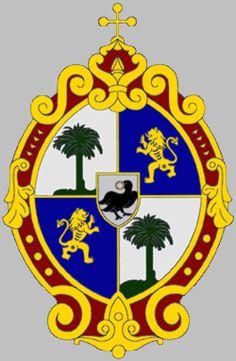 A Pálos Rend címere (középen holló, a csőrében egész cipót tart)