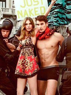 Campañas publicitarias moda otoño invierno 2013 2014 - Just Cavalli - Giampaolo Sgura