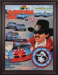 "NASCAR Framed 36"" x 48"" Daytona 500 Program Print Race Year: 33rd Annual - 1991 by Mounted Memories. $363.99. NC14331991 Race Year: 33rd Annual - 1991 Features: -Original cover art from that day's race program. -Vibrant colors restored, alive and well. -Classic brown finished wood frame, unmatted. -Officially licensed by NASCAR. -36"" W; x 48"" H; canvas print. -Overall dimensions 52 1/4 H"" x 40"" W. -Made in the USA."