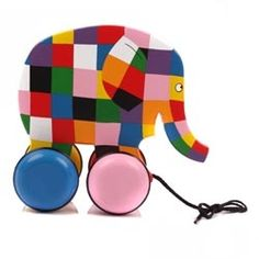 Elmer pull toy at Ella & Elliot My Baby Girl, Baby Love, Baby Baby, Elmer The Elephants, Elephants Never Forget, Kids Growing Up, Pull Toy, Elephant Love, Wood Toys