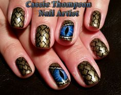 Game of Thrones nail art just in time for the finale tonight! Game Of Thrones Jewelry, Game Of Thrones Fans, Painted Nail Art, Hand Painted, Wow Nails, Paws And Claws, Khaleesi, Beauty Hacks, Beauty Tips