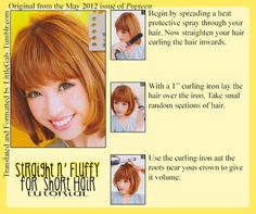straight and fluffy for short hair tutorial