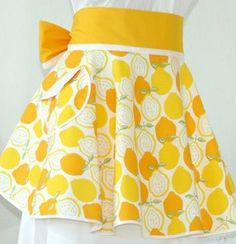 Lemon apron- so bright and cheerful. I absolutely love this!