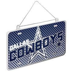 New Dallas Cowboys NFL Metal License Plate Holiday Christmas Ornament