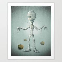 Halloween+Mummy+Art+Print+Promoters+-+$15.60