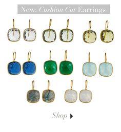 Piece of the Week: Cushion Cut Earrings - Margaret Elizabeth Cushion Cut, Turquoise Necklace, Jewelry Box, Jewellery Box, Jewelry Storage, Jewel Box