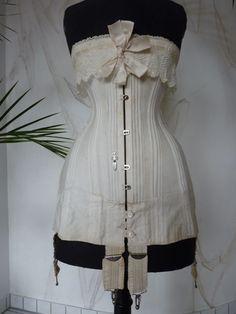 Italian bridal or wedding corset, ca. 1905