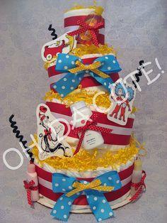 Dr Seuss diaper cake