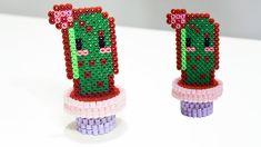 Cactus 3D con Hama Beads ✿ Perler Beads Cactus kawaii
