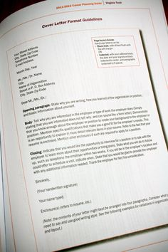 Young, Polished & Professional: Tips for writing a Cover Letter