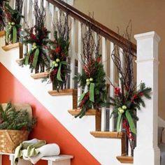 deco noel rampe escalier