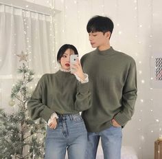 Korean Outfits, Mode Outfits, Fashion Outfits, Korean Clothes, Matching Couple Outfits, Matching Couples, Cute Couples Goals, Couples In Love, Ulzzang Fashion
