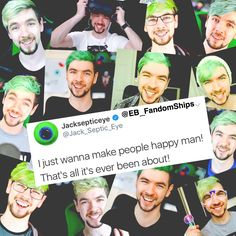 Markiplier / BirdyBoots / Jacksepticeye / Mark Edward Fischbach / Emma Louise Blackery / Sean William McLoughlin / Vloggery / CrankGamePlays / Ethan Nestor Darling / PewDiePie / Felix Kjellberg