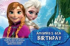 Disney Frozen Birthday Party Invitations 24 HOUR SERVICE 4x6 or 5x7