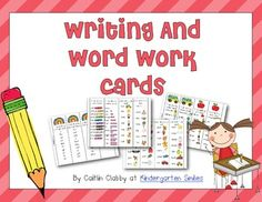 Writing and Word Work Cards: Freebie