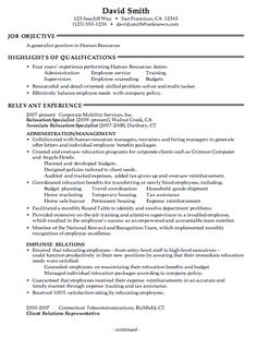 combination resume sample human resources generalist pg1 - Human Resources Resume Samples