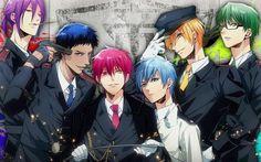 Kuroko No Basket - Generation of Miracles Policemen.......damnnn they all look so finneee