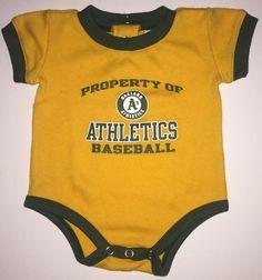 Oakland A's ATHLETICS Logo Shirt Newborn/Infant Baby Outfit CUTE, 0-3 Months #Athletics #OaklandAthletics