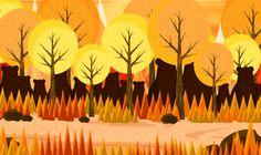 Create a Cartoon Bear Scene Using Repeating Shapes in Illustrator | Vectortuts+