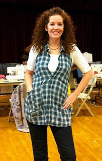 DIY Apron made out of an old flannel shirt!