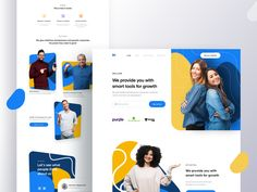 Landing Page by Shamin Yassar for IronSketch on Dribbble Website Design Inspiration, Design Ideas, Design Innovation, Coach Website, Page Web, Free Website Templates, Recruitment Agencies, Ui Ux Design, Flat Design