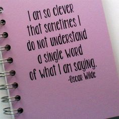 Personalized Journal  I am so clever quote from by ArtfulRising, $10.00
