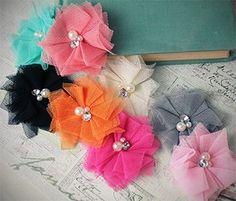 Vintage Tulle Flower | Shabby Chic Flower | Tulle Crafting Flower