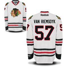 Get this Chicago Blackhawks Trevor van Riemsdyk White Premier Jersey w/ Authentic Lettering at ChicagoTeamStore.com