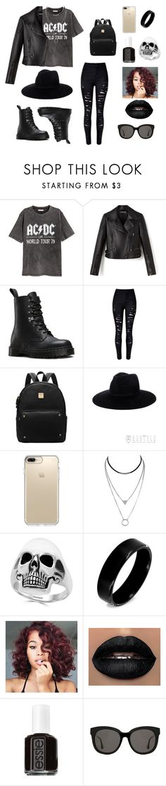 """""""Outfit #55"""" by jaelyn-davis447 ❤ liked on Polyvore featuring H&M, Dr. Martens, Speck, Effy Jewelry, West Coast Jewelry, Essie and Gentle Monster"""