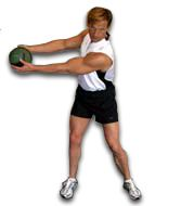 Get in your golf posture, hold a 6 pound medicine ball, and rotate back and through while remaining stable. You will dramatically improve your core strength to produce more power in your swing.