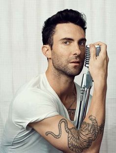 Adam Levine...tatted and gorgeous!