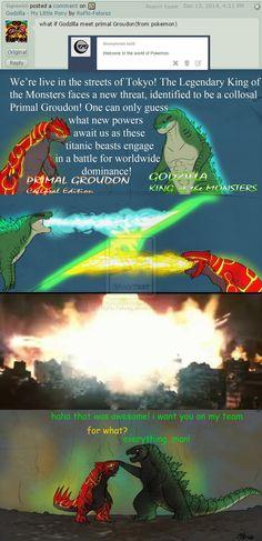 •Godzilla - P Groudon by RoFlo-Felorez