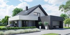 homify is an online platform for architecture, interior design, building and decoration. Dream House Plans, Modern House Plans, Modern House Design, Reforma Exterior, Modern Farmhouse Exterior, Facade House, House Exteriors, Home Design Plans, House Prices