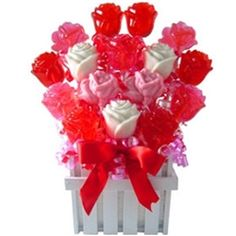 Valentine's Day Candy Bouquet Lollipop Roses